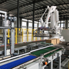 Automatic Mechanical robot palletizer with packing line